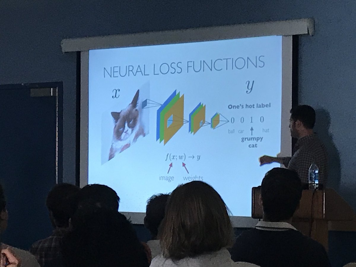 Everyone's got their #DeepLearning slide. Seen a ton of them at @ipam_ucla workshop. I'm partial toward @umdcs Prof. Tom Goldstein's inclusion of a @RealGrumpyCat cameo.