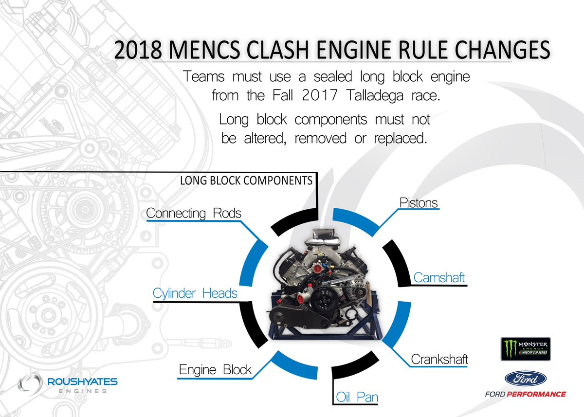 Doug Yates On Twitter In 2017 Nascar Announced Engine Rule Diagram Pistons Schedule Changes For The Mencs 2018 Season 1st Change Will Be Implemented At Theclash Practice Sat Raced Sun Disupdates