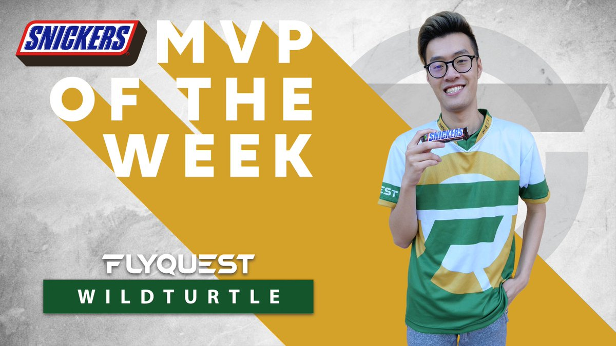 Congratulations to our @SNICKERS MVP of the Week, @WildTurtle 🐢 Even through rough games, he still holds a winning smile 💛