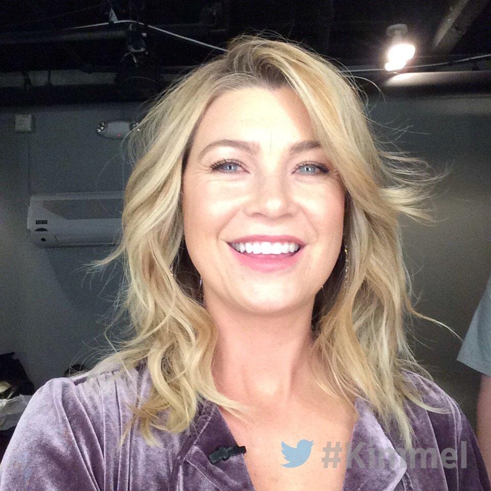 Backstage at #Kimmel with @EllenPompeo #...