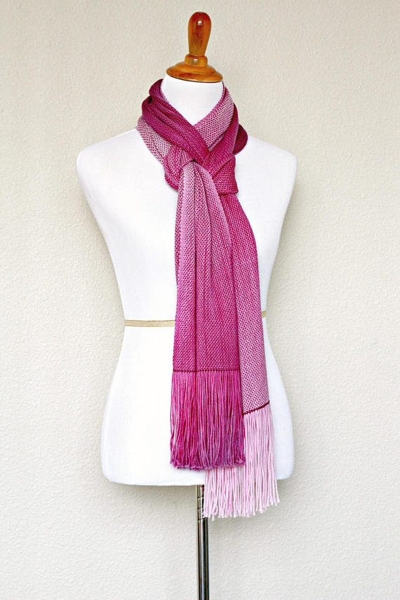 Valentine's gift for herWoven scarf, #pashmina scarf, #ombre scarf, gradient color