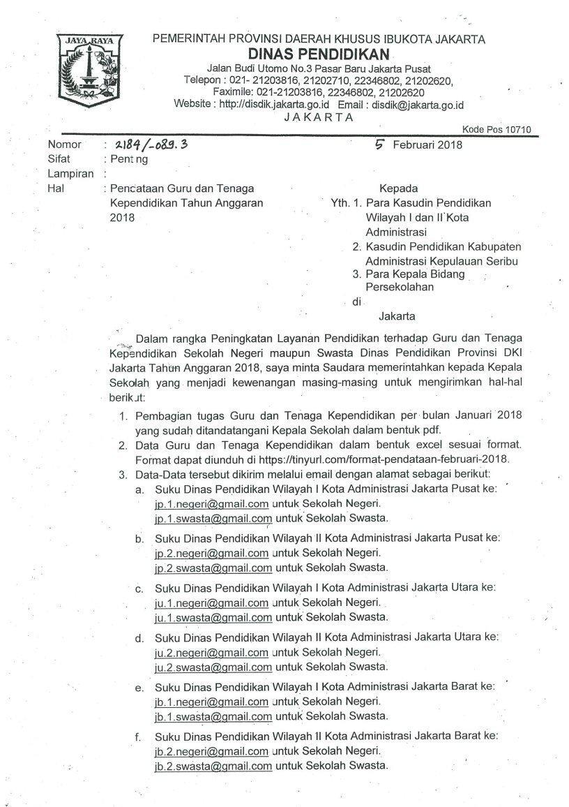 Dinas Pendidikan Provinsi Dki Jakarta On Twitter Yaaa Ini