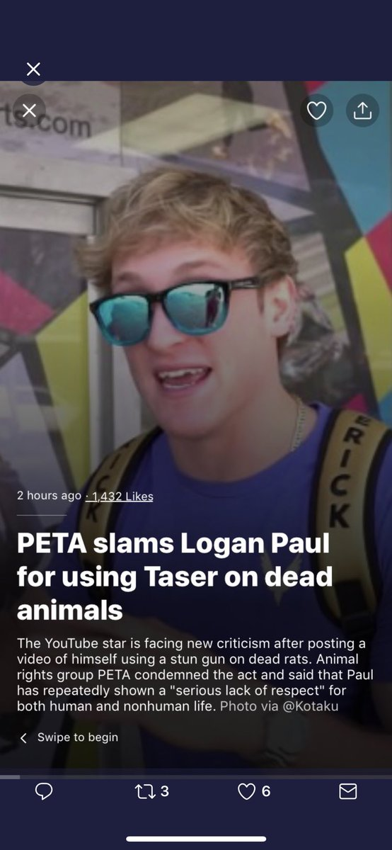 In Logan's defense I mean who of us hasn't used a taser on dead animals, bragged about the 1 million new subs we gained during our suicide exploitation scandal, and made a video asking people about the suicide video so we could use our suicide video tags on a monetized video?