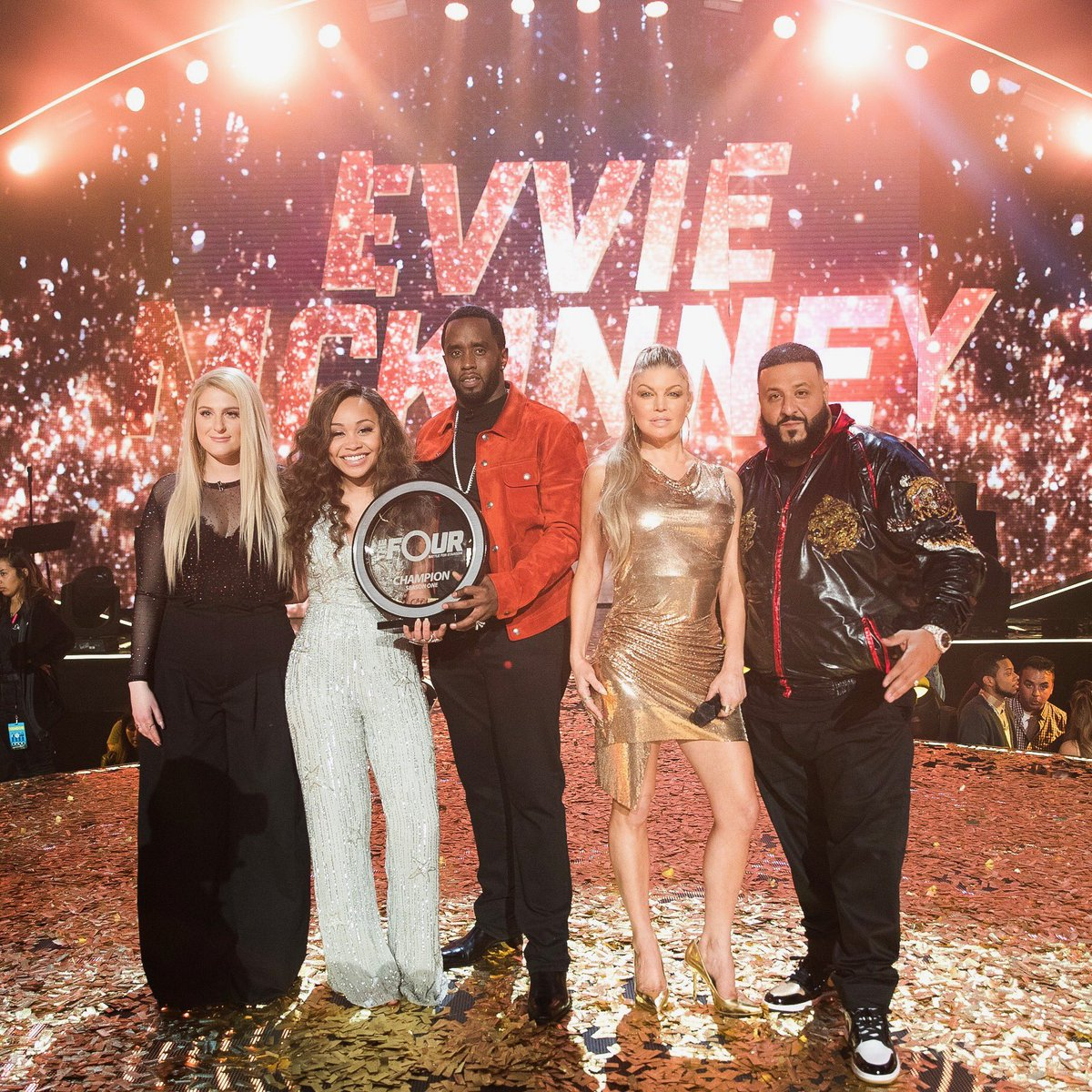 The Champion!!! @evvie_music #TheFour