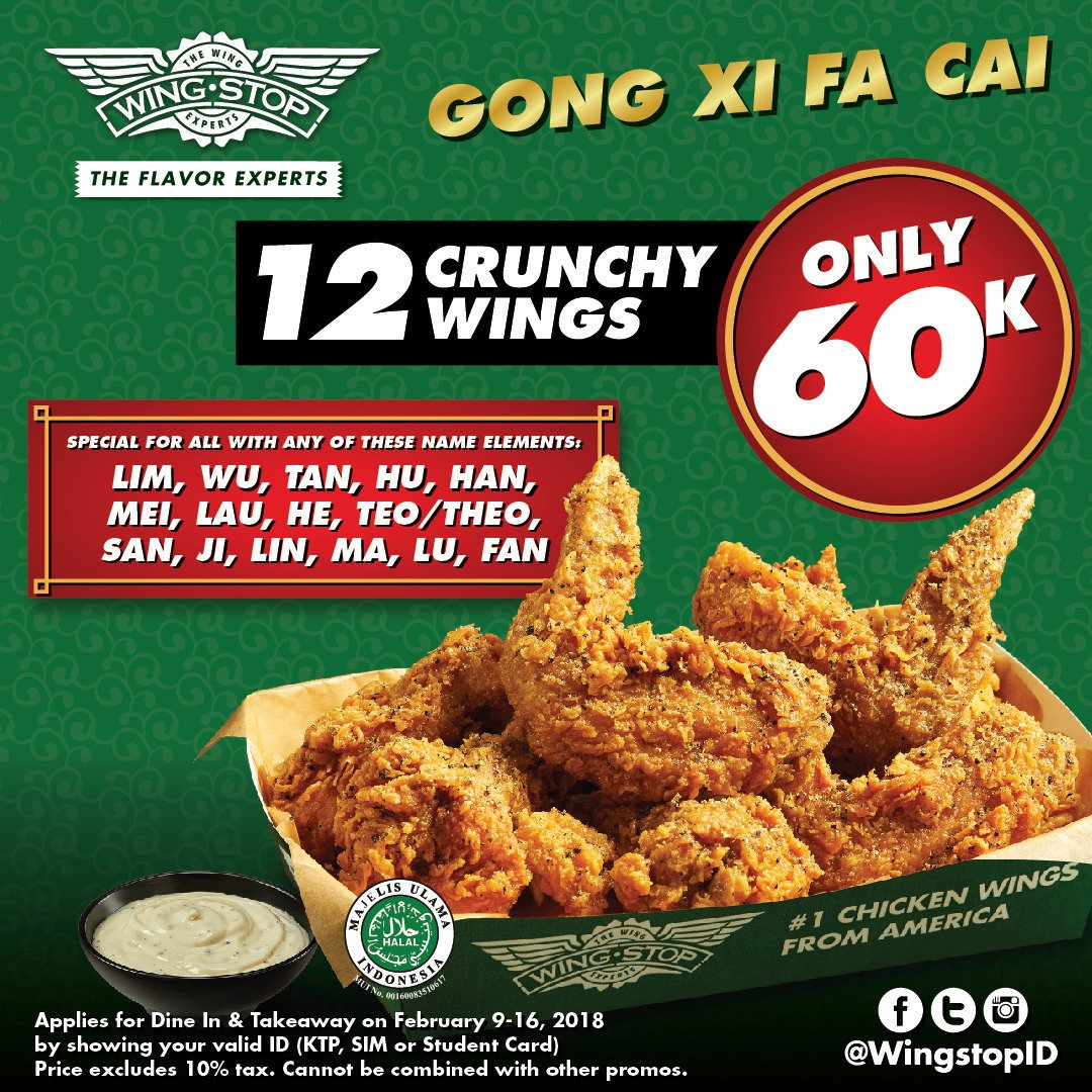 Wingstop Indonesia On Twitter Celebrate The Coming Prosperous Year