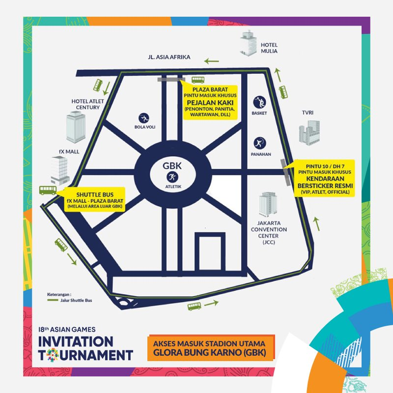 Asian games 2018 on twitter heres the map of gbk sports complex 1000 pm 8 feb 2018 stopboris Gallery