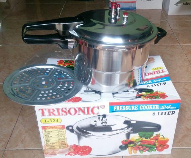Indonetshop Online Trisonic Panci Presto 24 cm Capacity 8 Liter Pressure Cooker SMS/Telp/
