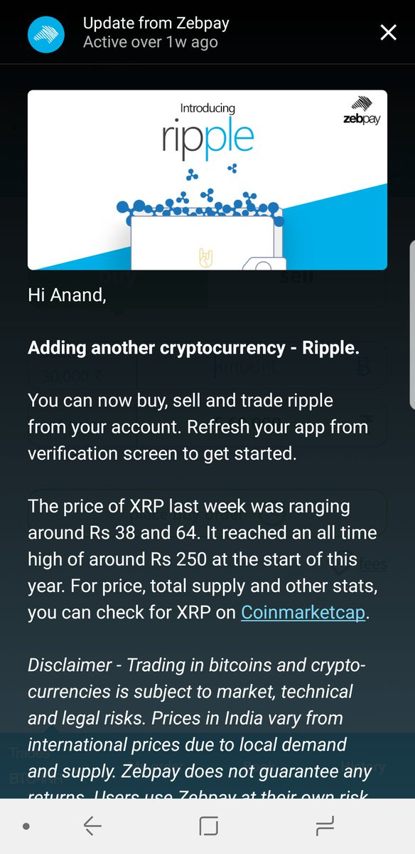 cryptocurrency app in india