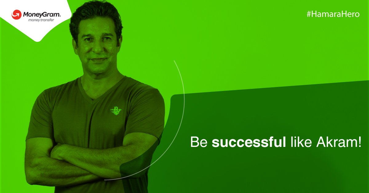 Wasim Akram is the most successful left-armer in history of cricket. You can be successful in winning twice the money when your loved ones abroad send through MoneyGram. Learn more here:  https://t.co/MAfwouproc