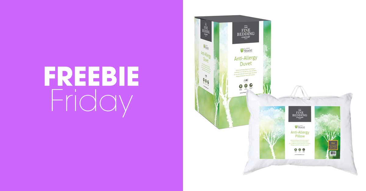 #FreebieFriday #win The Fine Bedding Company Anti-Allergy duvet (single, double or king size) and two pillows! For your chance to enter, simply RT & follow @homestylemaguk & @FineBeddingCo - good luck! You can find out more here: bit.ly/2uYuvgZ
