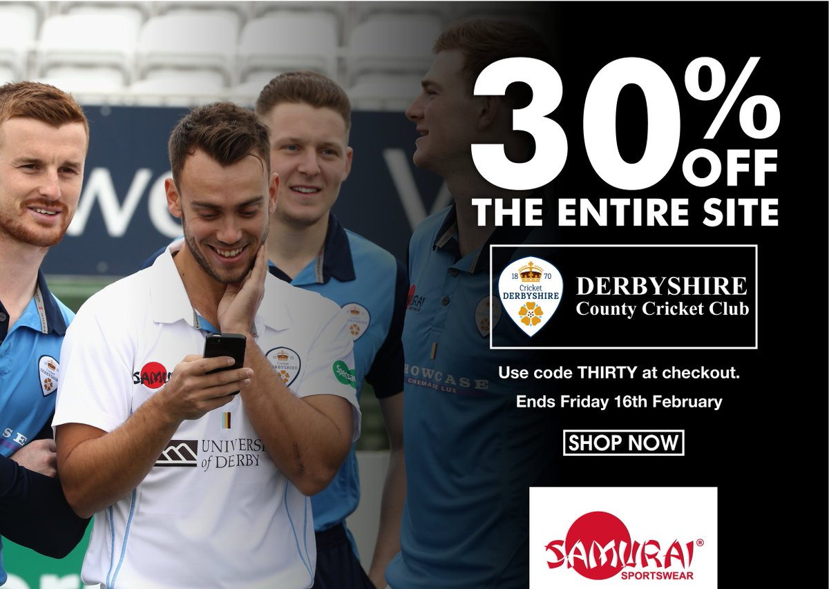 test Twitter Media - Get an amazing 30% off all products on the @DerbyshireCCC club shop! Simply enter code THIRTY at the checkout to receive this offer. Be quick as Code THIRTY will expire Friday 16th February 2018! Visit the club shop here>> https://t.co/vY3JMP7jTn https://t.co/JCO2H6m71o