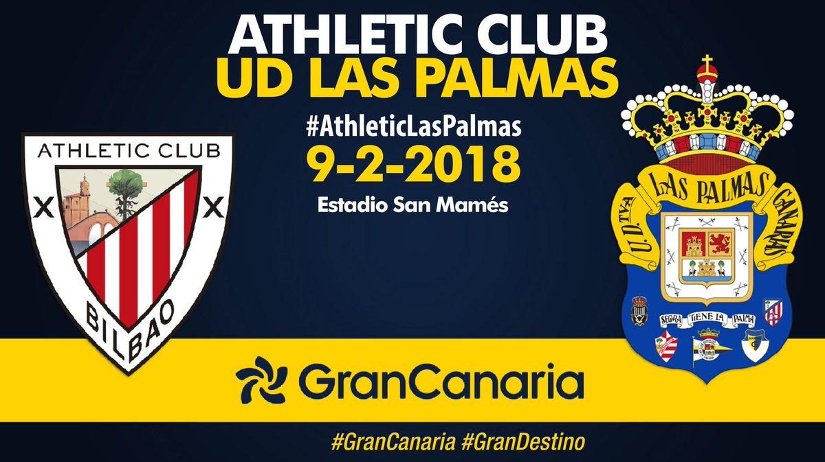 ¡Día de partido! 20.00h.c, #AthleticLasPalmas en San Mamés. ¡#VamosUD!