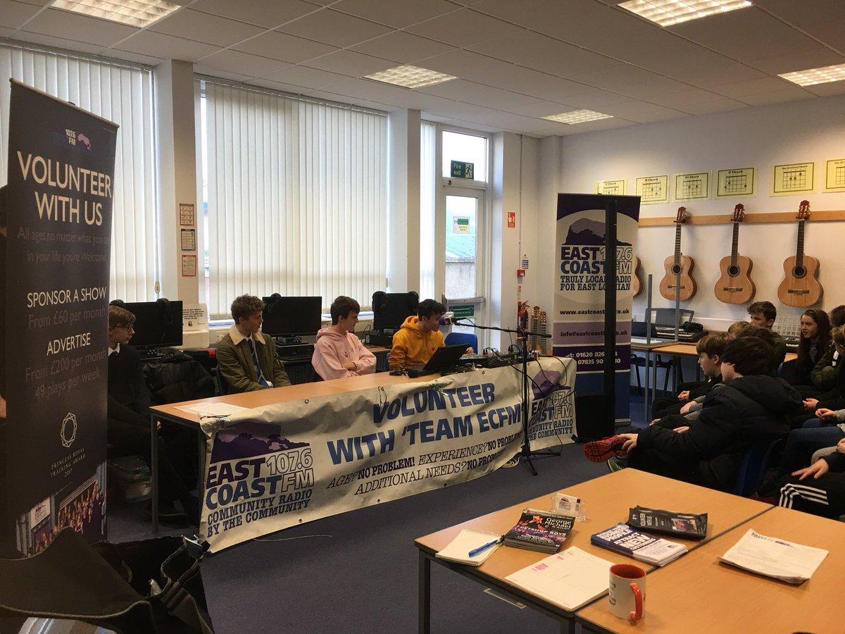 test Twitter Media - EastCoastFM at Musselburgh grammar school https://t.co/h341ye6Bij