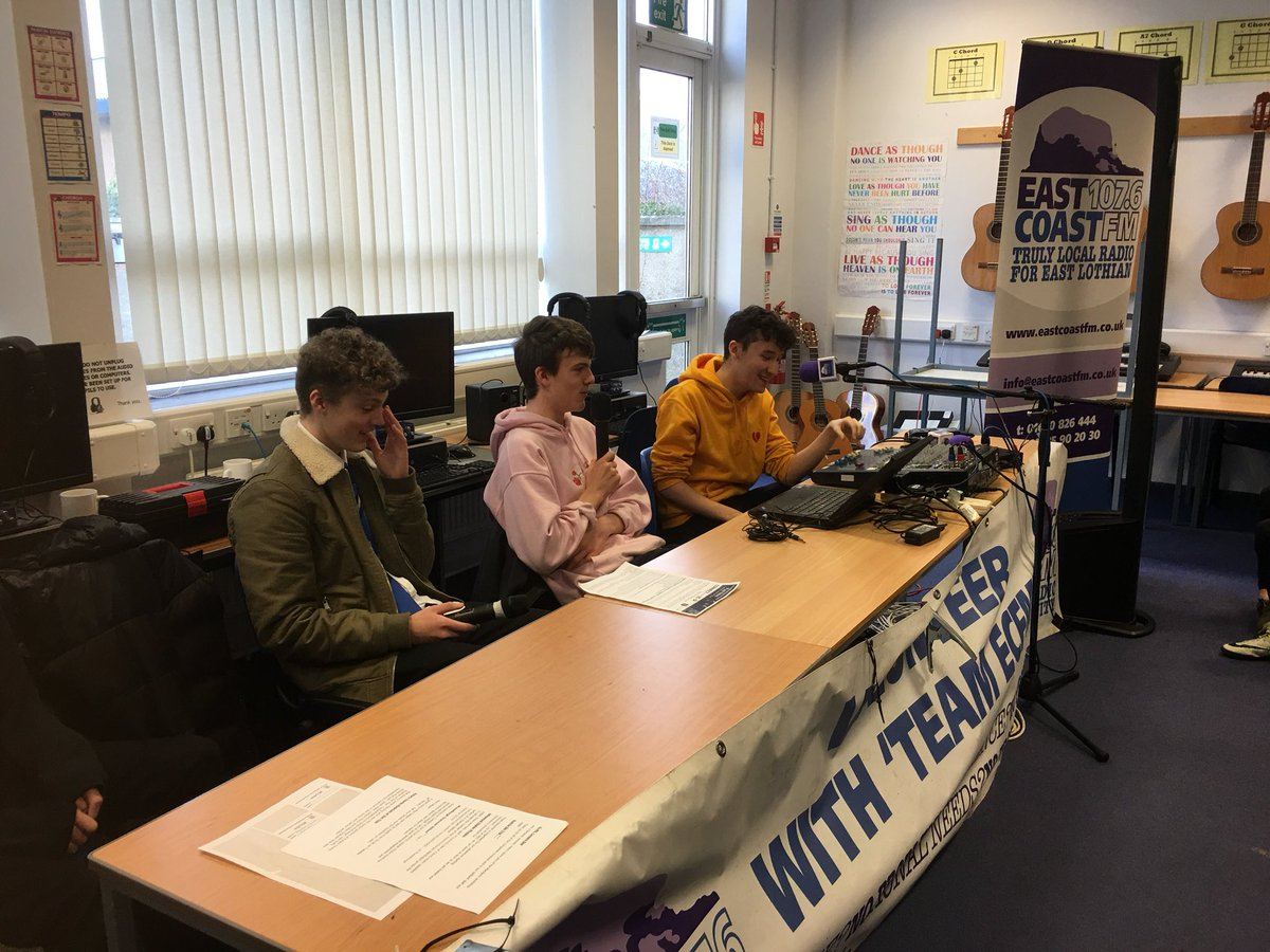test Twitter Media - EastCoastFM at Musselburgh grammar school https://t.co/h341ye6Bij