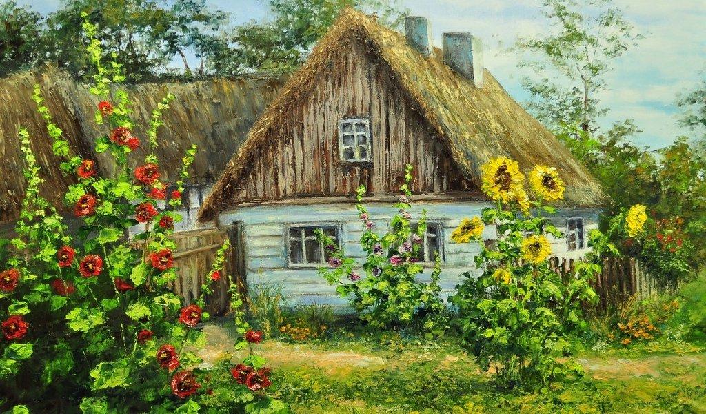 Открытки с домиком в деревне, смешные дпс