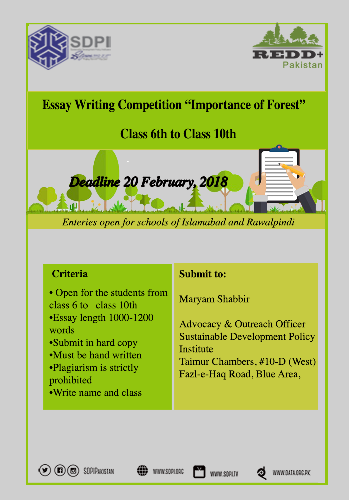 essay writing on forest