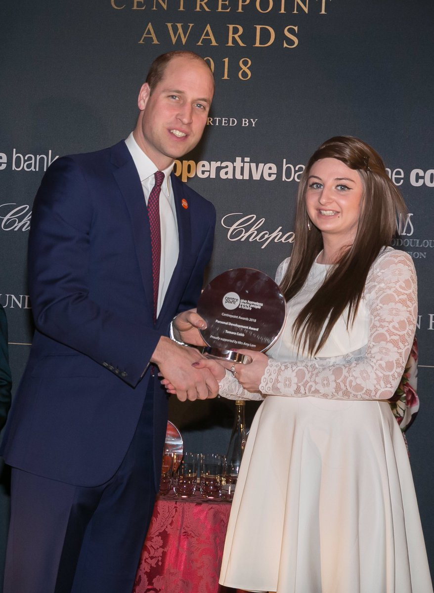Congratulations to Tamara on winning the Personal Development award last night at Centrepoint Awards 2018. Youre an outstanding young woman and should be so proud of all youve achieved.  #CPatthePalace
