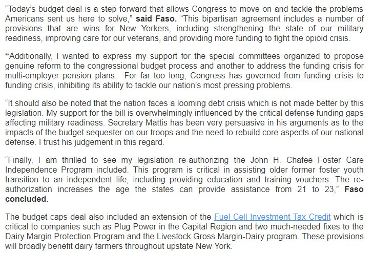 John Faso On Twitter My Statement On The Bipartisan Budget Deal