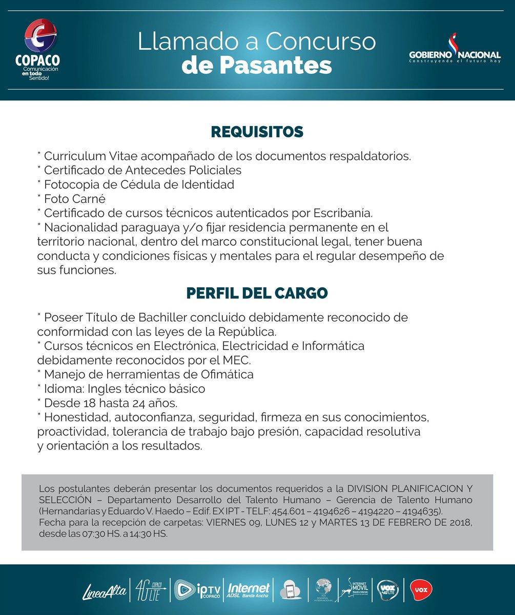 Copaco On Twitter Ahora Podes Ser Parte De La Compania Paraguaya