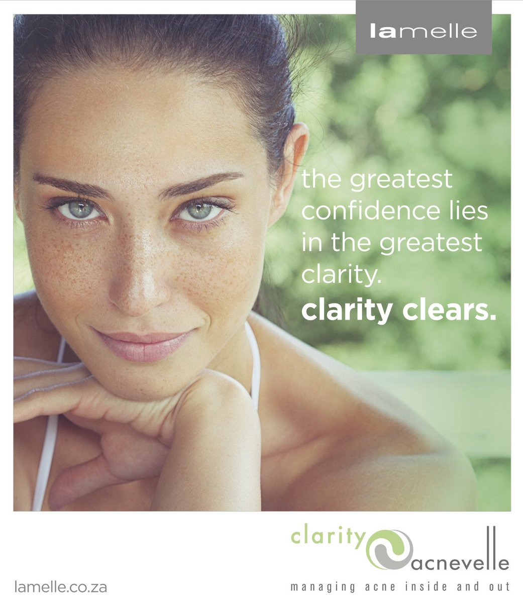 Get confident clear skin with Clarity. #ClarityClears