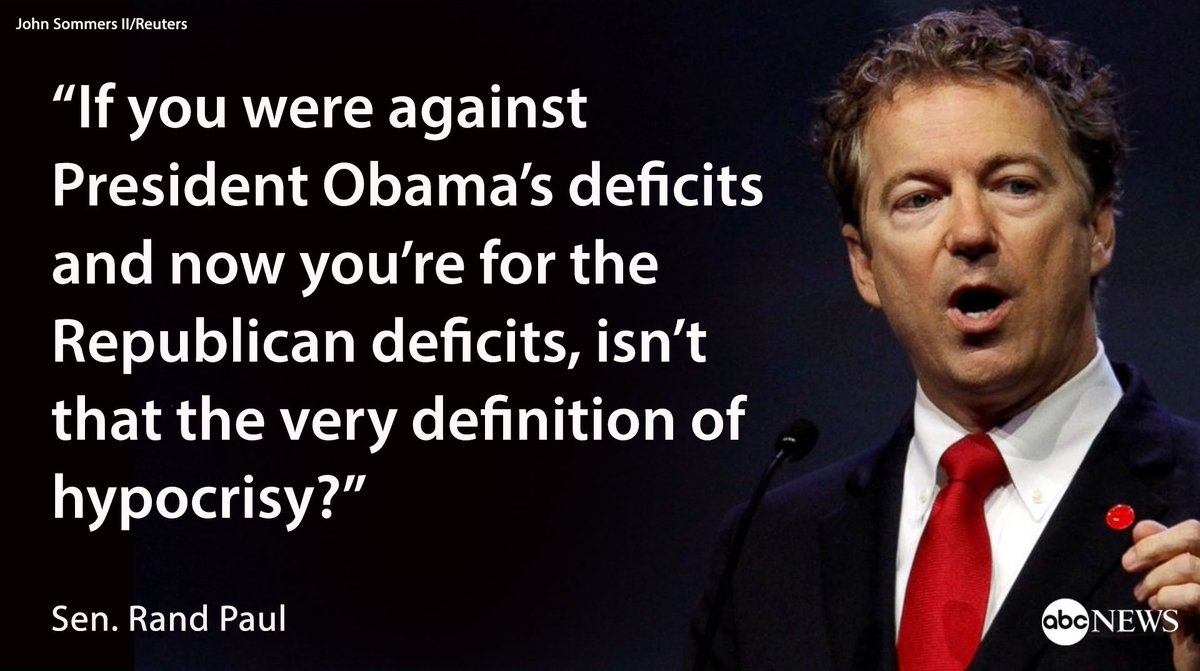 Image result for Rand Paul budget hypocrisy