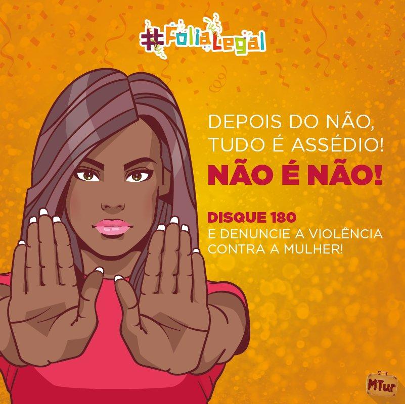 Passando pra lembrar que #FoliaLegal é #CarnavalSemAssédio