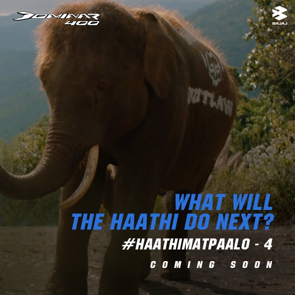 What other feature makes the Dominar 400 the better beast at conquering terrain? Guess what happens in the next episode of #HaathiMatPalo series. #GoHyperriding. https://t.co/Q1oBaursz5
