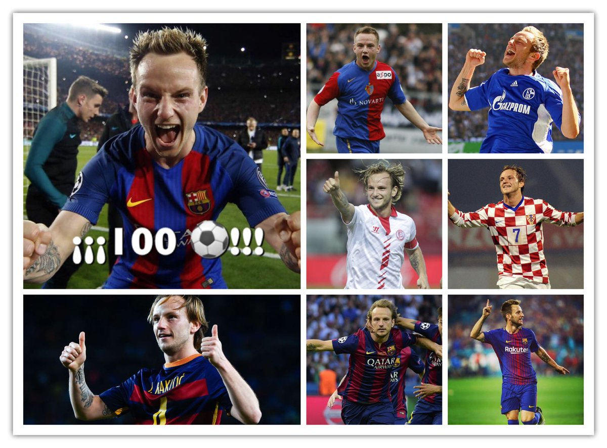 Proud to reach 💯 goals ⚽ Thanks to @FCBasel1893 @s04 @SevillaFC @FCBarcelona and @HNS_CFF for giving me the opportunity to enjoy what I like the most; to all the teammates and coaches who have helped me; and to all the fans that have supported me 🙌 Now, for another 💯 😜🙈😂