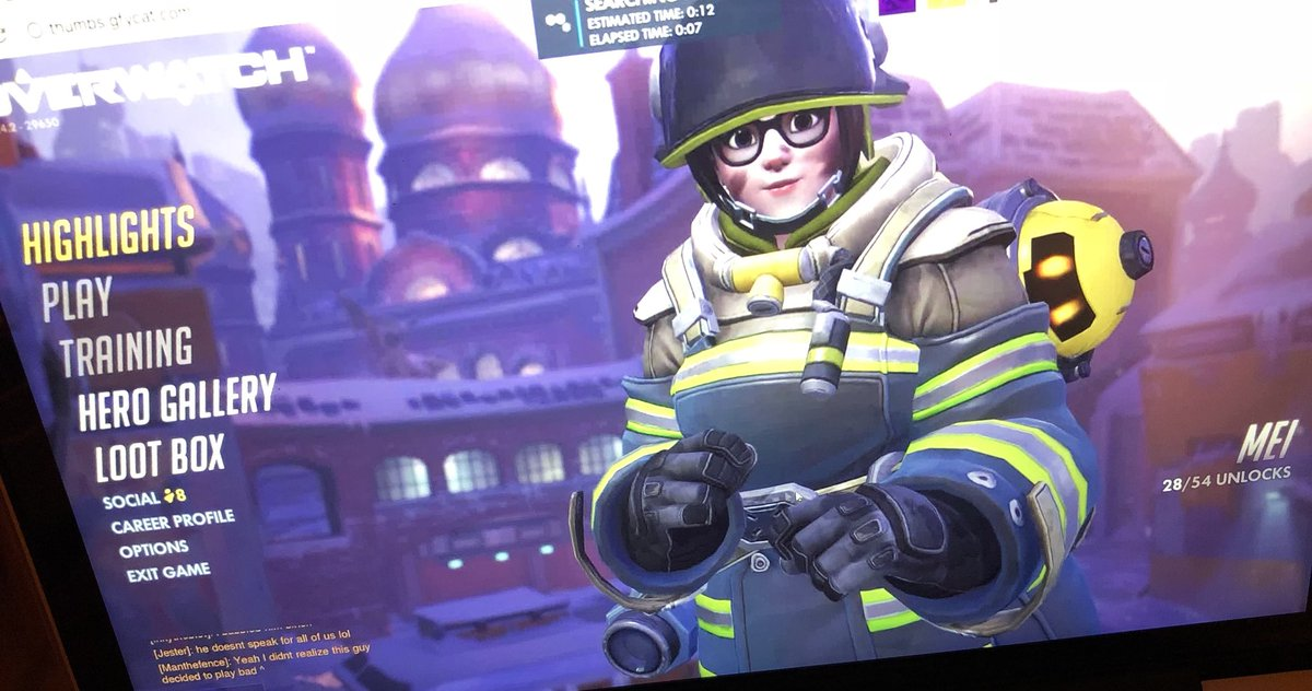Genji is 🔥 but i'm really just Mei.. HAH...
