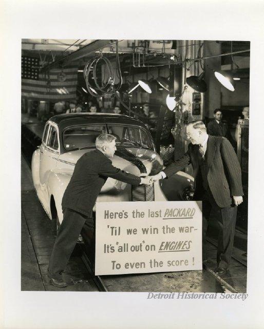 942 : Detroit Auto Plants Turn Out Last Civilian Car; Refocuses on War Production
