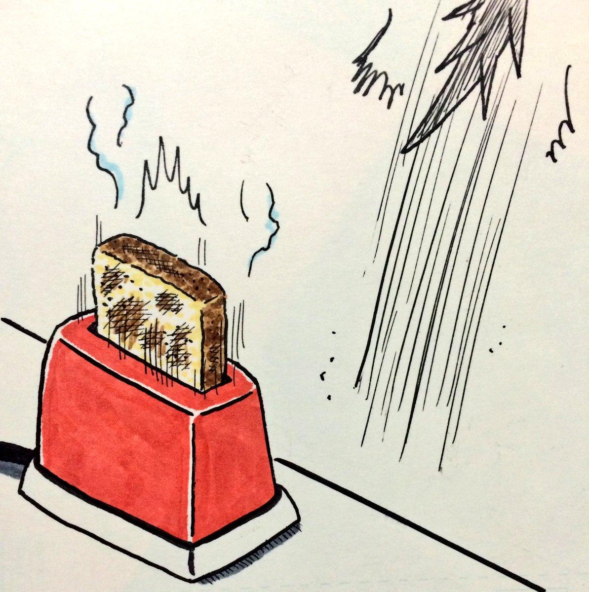 トースターとちびナルガ。