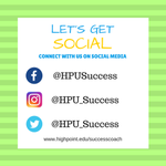 HPU's Student Success team wants to get connected with you.  We now have 3 ways to engage on Social Media. Be sure to follow us on Facebook, Instagram, and Twitter to never miss an update.