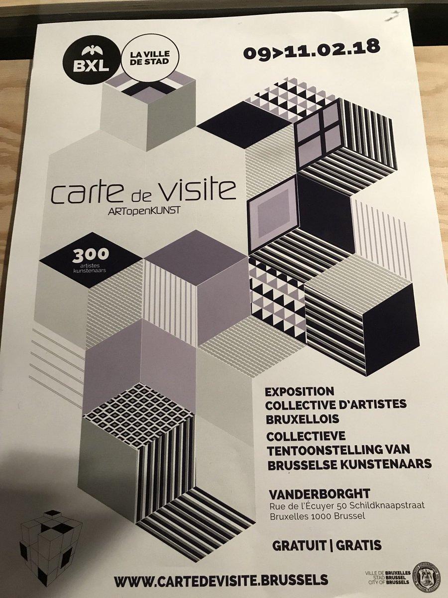 Karine Lalieux On Twitter BXLCULT Malgr La Neige Les Artistes Et Le Public Ont Rpondu Prsents Au Rdv De Carte Visite 300 Exposants