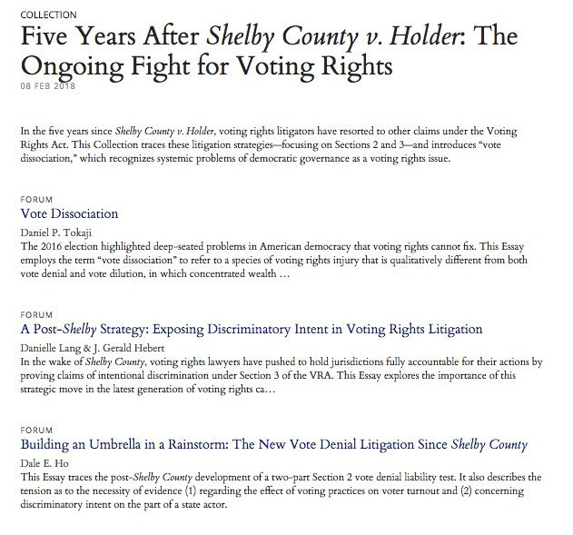 Thesis For A Narrative Essay  Voting Rights Act Our Latest Forum Collection Features Pieces By  Campaignlegals Gerryhebert And Danilangdc Daleeho And  Titlelaw  High School Admission Essay Samples also Learning English Essay Example The Yale Law Journal On Twitter In The  Years Since Shelby County  Essay Examples High School