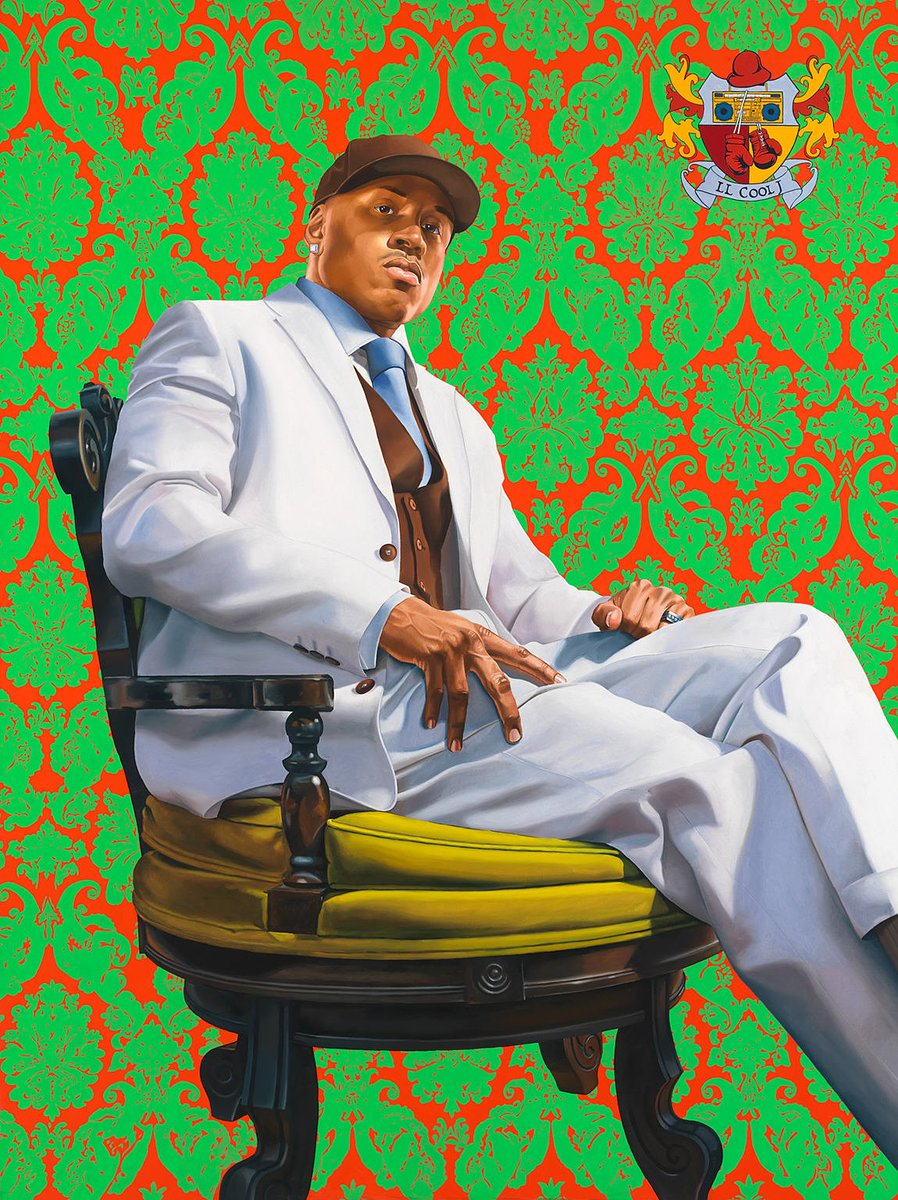 Kehindewileyarts portrait of llcoolj is on view in our npg pic twitter com 0gfclobbfm