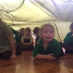 Den building with the parachute and hot chocolate for all those who have had positive attitudes and oustanding learning behaviours this term