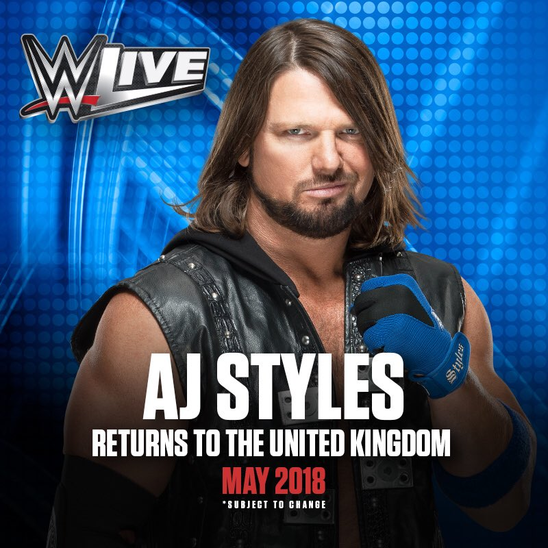 UK, the #Phenomenal @WWE Champion is returning in May and I'm bringing the ENTIRE #SDLive roster! eventim.co.uk/Tickets.html?a…