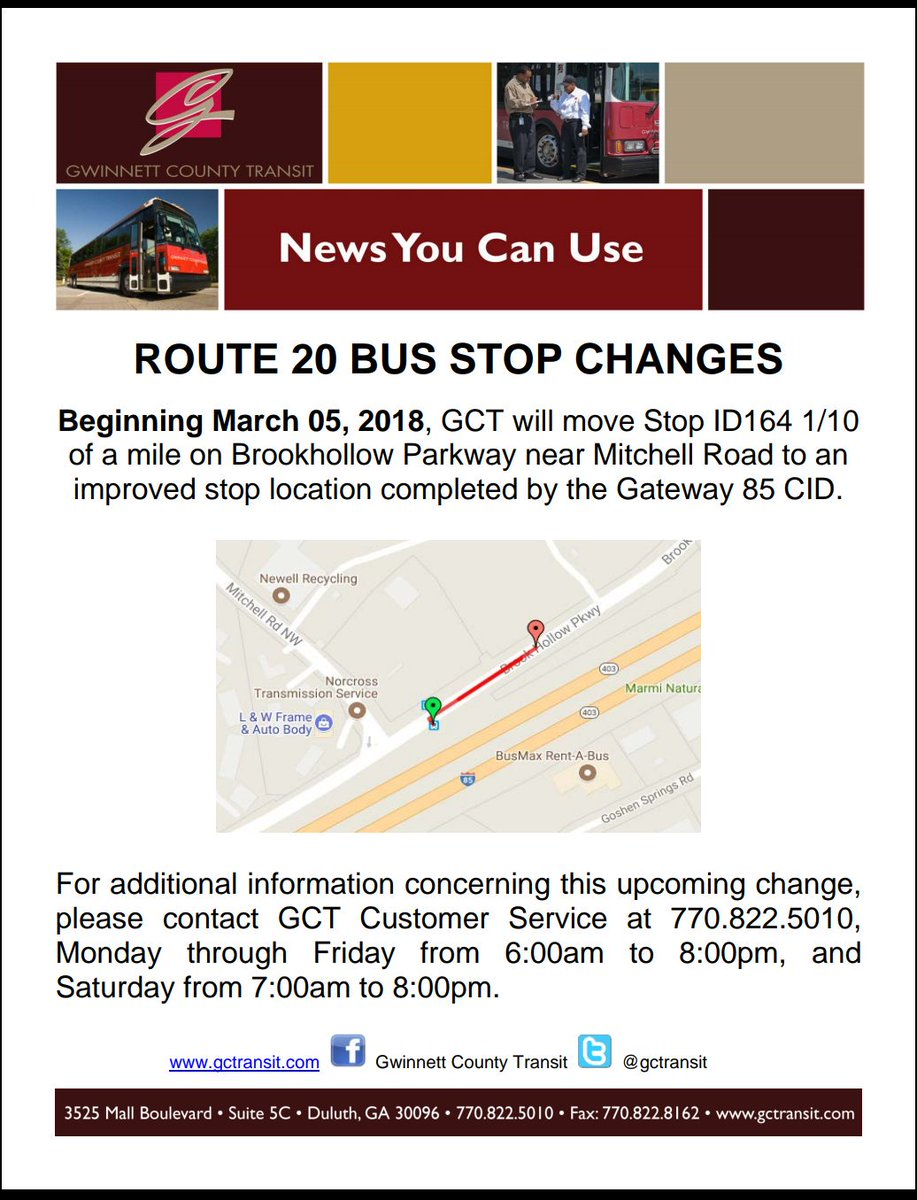 "gwinnetttransit on twitter: ""route 20 bus stop change… """
