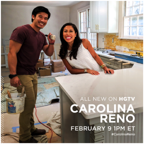 Tune into @hgtv a 1 pm TODAY! To meet brother and sister duo Roxy and San San Te! Watch them renovate and redesign someone's forever home #carolinareno @SocietySocial @SwitchbladeEnt @milojoprods