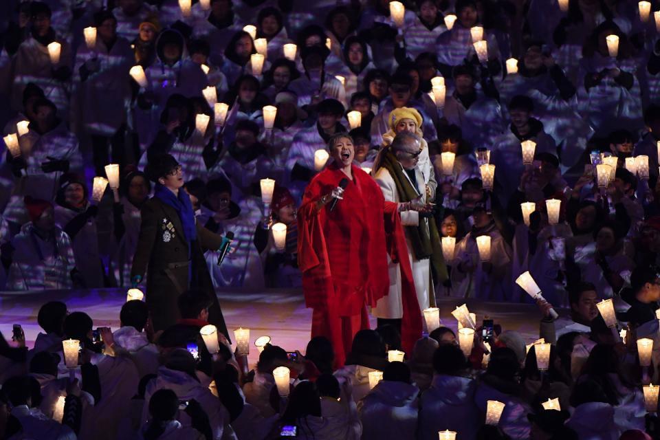 #Pyeongchang2018 opening ceremony forgoe...