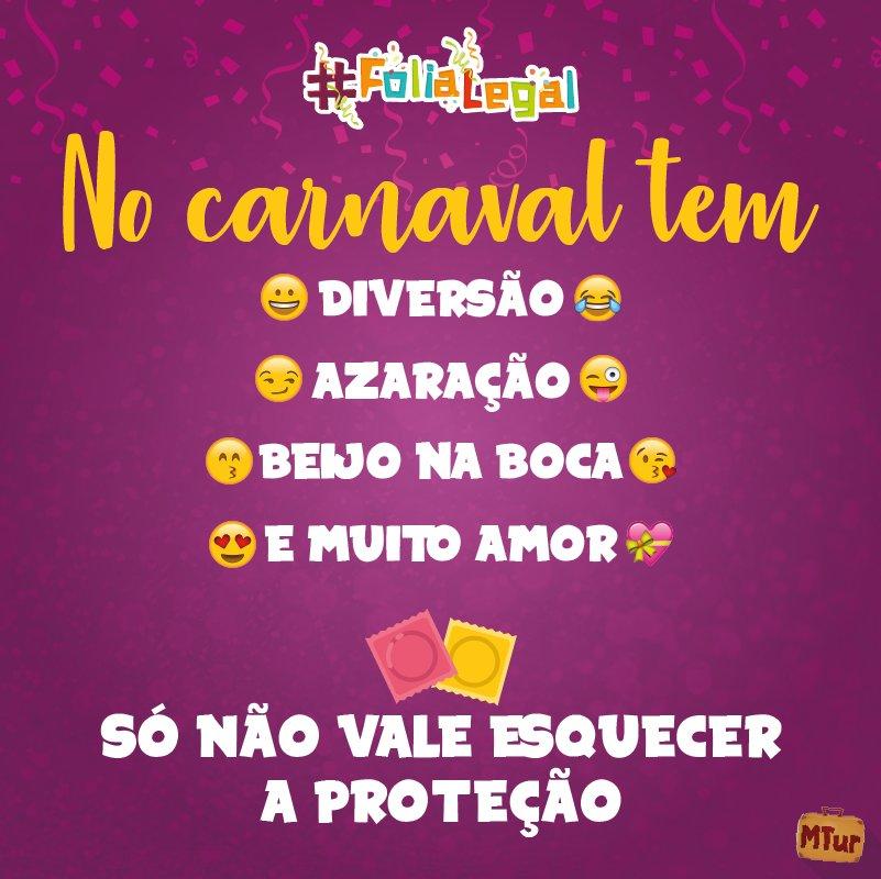 Olha a #camisinha aí, gente! #FoliaLegal é folia segura. Não vacile neste #carnaval.