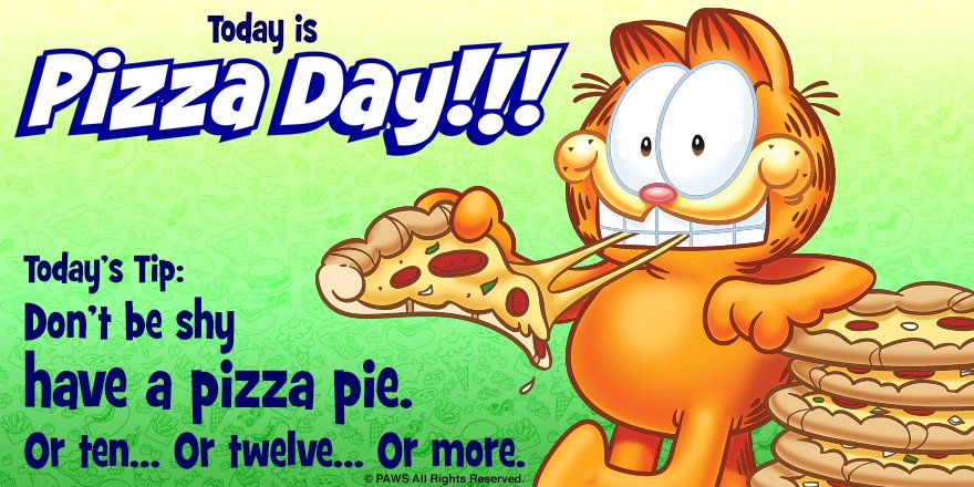 #NationalPizzaDay Just eat it. #PizzaDay...