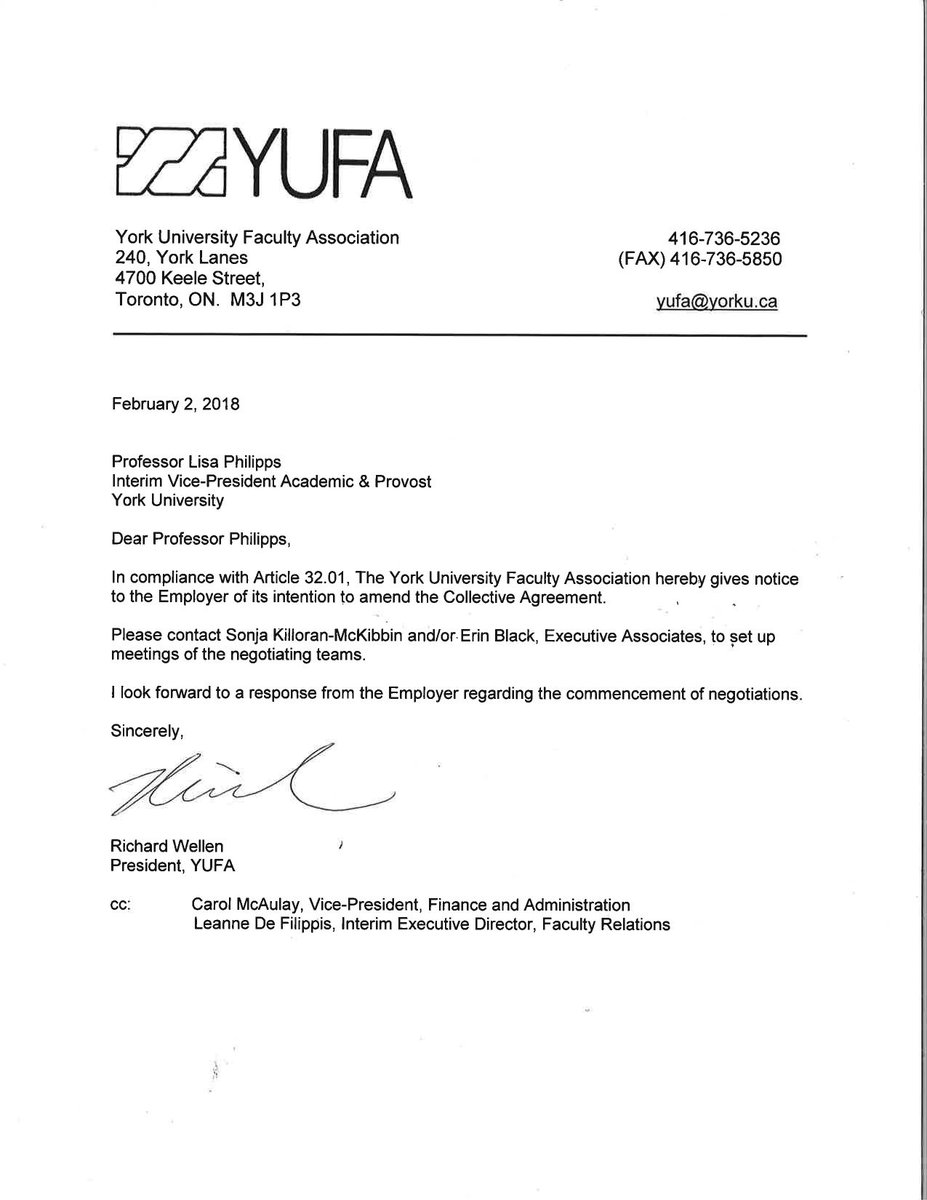 Yufa On Twitter Yufa Serves Notice To Bargain A New Collective