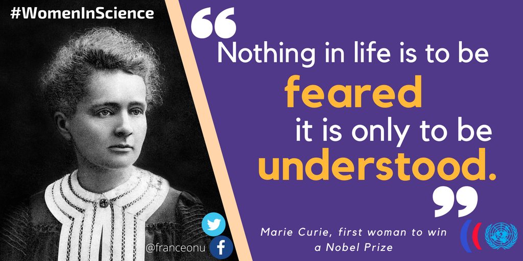 Marie Curie, Polish & French physicist, was the 1st woman to win a Nobel Prize.   #WomenInScienceDay