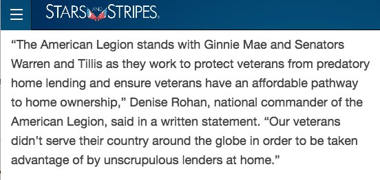 Last year, I called out shady mortgage lenders who exploit veterans for profit, and the federal agencies in charge created a task force to address the issue. Now those lenders have been put on notice: Cut it out, or you'll be cut off. https://t.co/DMGJWY74MN
