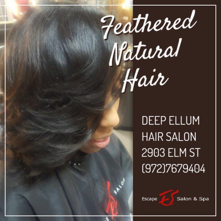 Kelli Washington On Twitter Feathered Natural Hair At Escape Salon