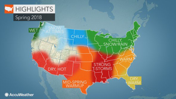 Accuweather Severe Weather Map.Accuweather On Twitter 2018 Us Spring Forecast Severe Weather To