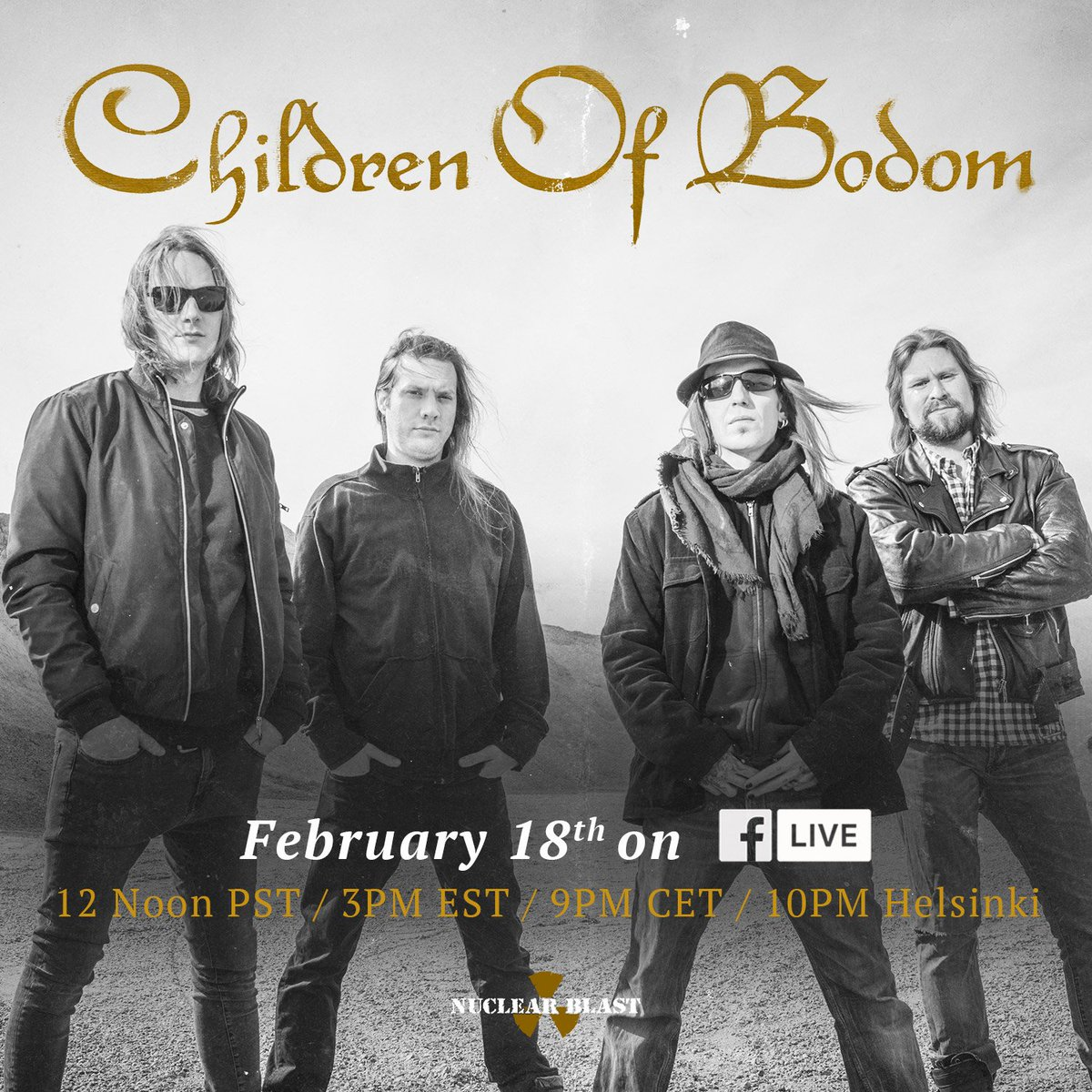 We are going to be doing Facebook Live event talking about the recording of the new album and answering your questions!  Tune in to https://t.co/Ve8lPppPiF February 18th at 12 Noon PST / 3PM EST / 9PM CET / 10PM Helsinki  Chat then ;) https://t.co/WEjczzX45j