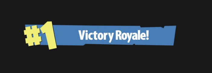 Victory royale banner PNG Free Download.
