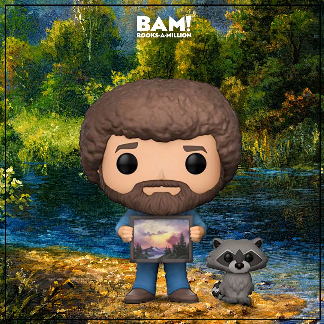 """I guess I'm a little weird. I like to talk to trees and animals. That's okay though; I have more fun than most people."" - Bob Ross. Find these rare #BobRoss variant POPs at #BooksAMillion now! bit.ly/2ExkQmO"